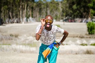 Ayabonga Ngoma (ALN) sticking tongue out at camera